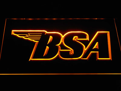 BSA Outline LED Neon Sign - Yellow - SafeSpecial