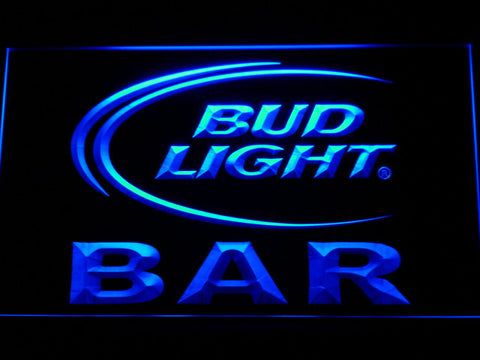 Bud Light Bar LED Neon Sign - Blue - SafeSpecial