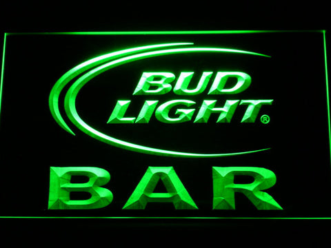 Bud Light Bar LED Neon Sign - Green - SafeSpecial