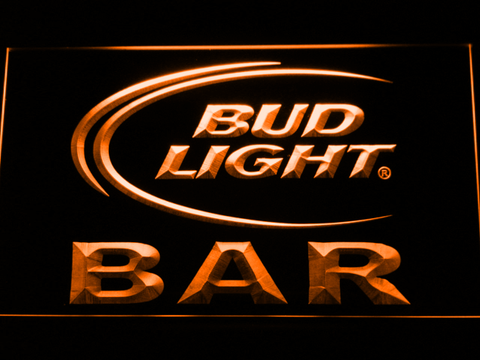 Bud Light Bar LED Neon Sign - Orange - SafeSpecial
