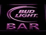 Bud Light Bar LED Neon Sign - Purple - SafeSpecial
