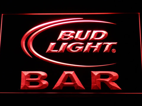 Bud Light Bar LED Neon Sign - Red - SafeSpecial