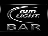 Bud Light Bar LED Neon Sign - White - SafeSpecial