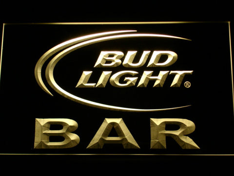 Bud Light Bar LED Neon Sign - Yellow - SafeSpecial