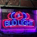 Bud Light Billiards Neon-Like LED Sign - Dual Color - Blue and Red - SafeSpecial