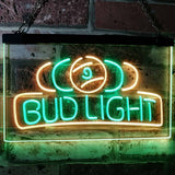 Bud Light Billiards Neon-Like LED Sign - Dual Color - Green and Yellow - SafeSpecial