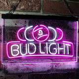 Bud Light Billiards Neon-Like LED Sign - Dual Color - White and Purple - SafeSpecial