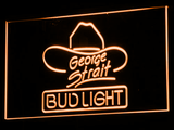 Bud Light George Strait LED Neon Sign - Orange - SafeSpecial