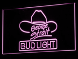 Bud Light George Strait LED Neon Sign - Purple - SafeSpecial
