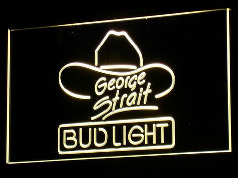 Bud Light George Strait LED Neon Sign - Yellow - SafeSpecial