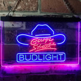 Bud Light George Strait Neon-Like LED Sign - Dual Color - Blue and Red - SafeSpecial
