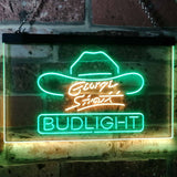 Bud Light George Strait Neon-Like LED Sign - Dual Color - Green and Yellow - SafeSpecial