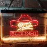 Bud Light George Strait Neon-Like LED Sign - Dual Color - Red and Yellow - SafeSpecial