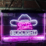 Bud Light George Strait Neon-Like LED Sign - Dual Color - White and Purple - SafeSpecial