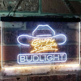 Bud Light George Strait Neon-Like LED Sign - Dual Color - White and Yellow - SafeSpecial