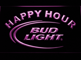 Bud Light Happy Hour LED Neon Sign - Purple - SafeSpecial