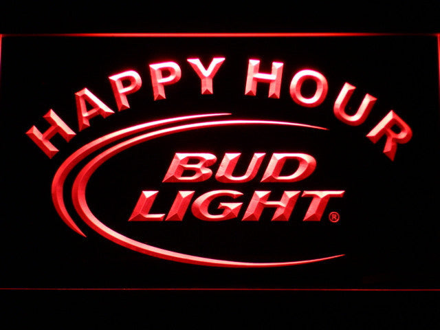 Bud Light Happy Hour Led Neon Sign Safespecial