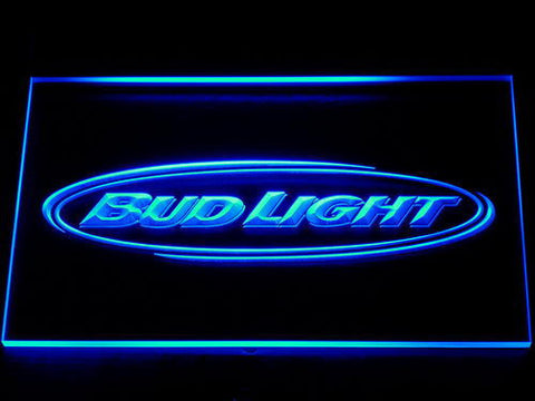 Bud Light Horizontal LED Neon Sign - Blue - SafeSpecial