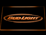 Bud Light Horizontal LED Neon Sign - Orange - SafeSpecial