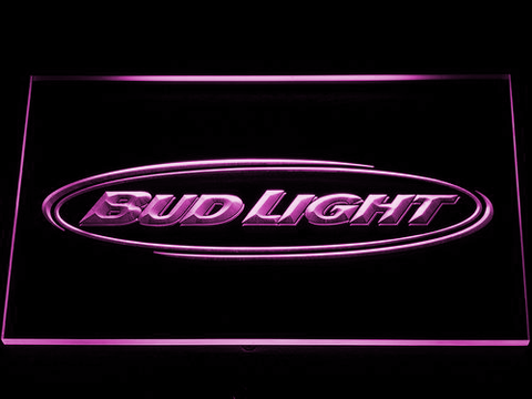 Bud Light Horizontal LED Neon Sign - Purple - SafeSpecial
