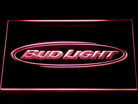 Bud Light Horizontal LED Neon Sign - Red - SafeSpecial
