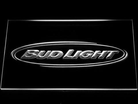 Bud Light Horizontal LED Neon Sign - White - SafeSpecial