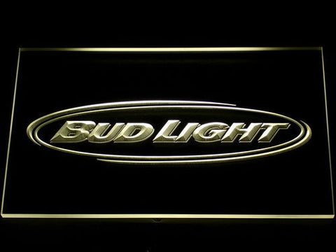 Bud Light Horizontal LED Neon Sign - Yellow - SafeSpecial