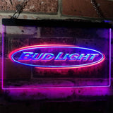 Bud Light Horizontal Neon-Like LED Sign - Dual Color - Blue and Red - SafeSpecial