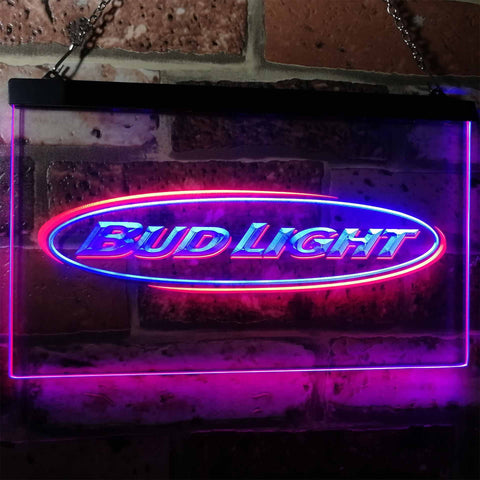 Image of Bud Light Horizontal Neon-Like LED Sign - Dual Color