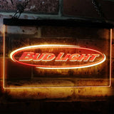 Bud Light Horizontal Neon-Like LED Sign - Dual Color - Red and Yellow - SafeSpecial