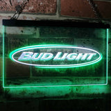 Bud Light Horizontal Neon-Like LED Sign - Dual Color - White and Green - SafeSpecial