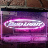 Bud Light Horizontal Neon-Like LED Sign - Dual Color - White and Purple - SafeSpecial