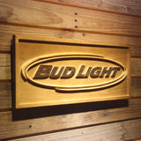 Bud Light Horizontal Wooden Sign - - SafeSpecial