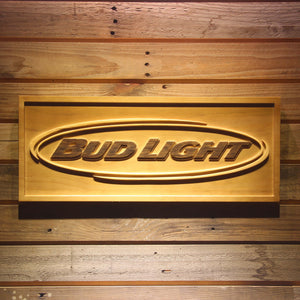 Bud Light Horizontal Wooden Sign - Small - SafeSpecial