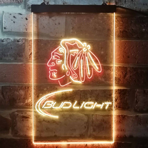 Image of Bud Light Indian Neon-Like LED Sign - Dual Color