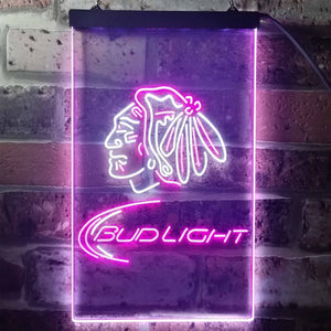 Bud Light Indian Neon-Like LED Sign - Dual Color