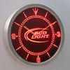 Bud Light LED Neon Wall Clock - Red - SafeSpecial