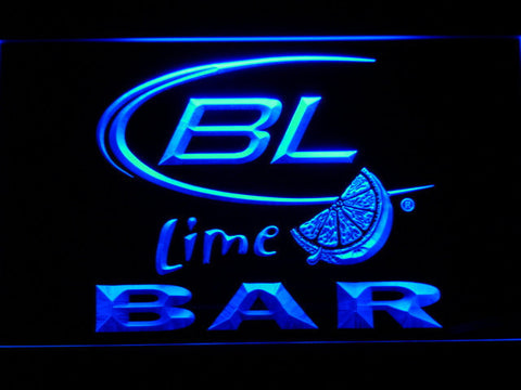 Image of Bud Light Lime Bar LED Neon Sign - Blue - SafeSpecial