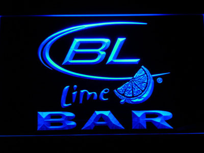 Bud Light Lime Bar LED Neon Sign - Blue - SafeSpecial