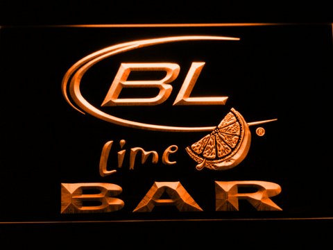 Image of Bud Light Lime Bar LED Neon Sign - Orange - SafeSpecial