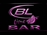 Bud Light Lime Bar LED Neon Sign - Purple - SafeSpecial