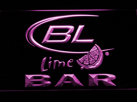 Image of Bud Light Lime Bar LED Neon Sign - Purple - SafeSpecial