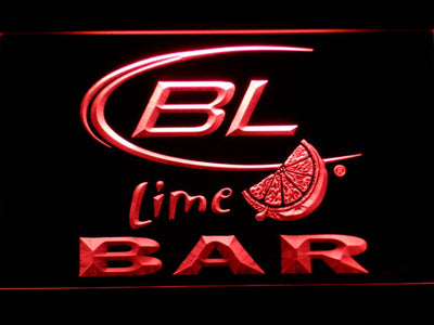 Bud Light Lime Bar LED Neon Sign - Red - SafeSpecial