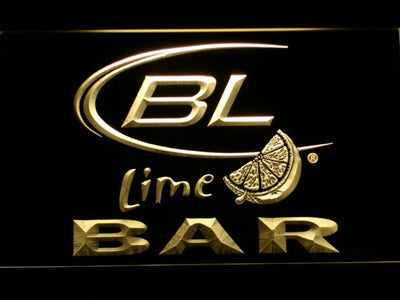 Bud Light Lime Bar LED Neon Sign - Yellow - SafeSpecial
