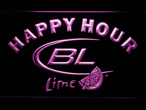 Bud Light Lime Happy Hour LED Neon Sign - Purple - SafeSpecial