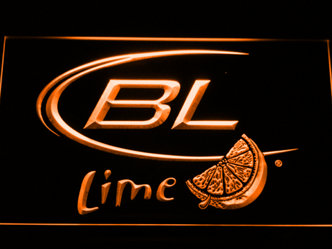 Image of Bud Light Lime LED Neon Sign - Orange - SafeSpecial