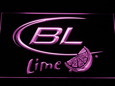 Image of Bud Light Lime LED Neon Sign - Purple - SafeSpecial