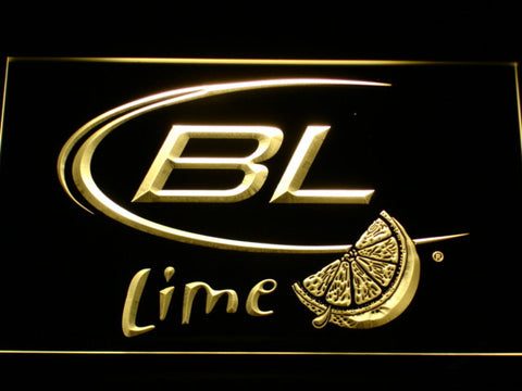 Bud Light Lime LED Neon Sign - Yellow - SafeSpecial