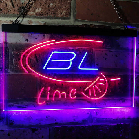 Bud Light Lime Neon-Like LED Sign - Dual Color - Blue and Red - SafeSpecial