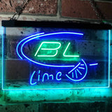 Bud Light Lime Neon-Like LED Sign - Dual Color - Green and Blue - SafeSpecial